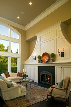 Since 1979 the Maywood Company has been providing superior custom home building and remodeling in the Portland Metro and surrounding areas. Beautiful Interiors, Beautiful Homes, Living Spaces, Living Rooms, Living Area, Traditional House, Modern Traditional, Home Inc, Unusual Homes