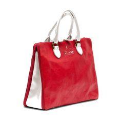 Shoulder Bag Red-White