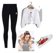 """""""Lazy school day"""" by veera-vihmo on Polyvore featuring adidas Originals"""