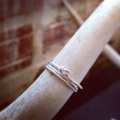 Hey, I found this really awesome Etsy listing at https://www.etsy.com/listing/110041570/sterling-silver-stacking-knot-ring