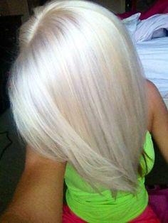 White blonde hair!