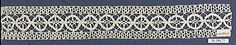Insertion lace, (linen?) bobbin lace, 16th century, Italian. Metropolitan Museum of Art accession no. 20.186.71