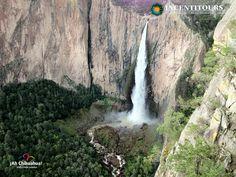 La cascada de Basaseachi es la caída de agua permanente más alta de México. Está localizada en lo alto de la Sierra Madre Occidental, en el municipio de Ocampo, en Chihuahua. En INCENTITOURS le ofrecemos los mejores tours para que la conozca, a 3 km de la población de Basaseachi y a unos 265 km al oeste de la ciudad de Chihuahua, es parte del Parque Nacional Cascada de Basaseachi. Informes al teléfono 01 800 716 3562 o en la página www.incentitours.com.mx #turismoenchihuahua