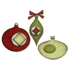 Sizzix - Tim Holtz - Alterations Collection - Christmas - Bigz Die - Retro Ornaments at Scrapbook.com