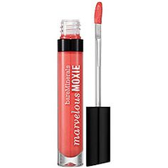 bareMinerals Marvelous Moxie Lipgloss in Party Starter - fiery coral $23 #sephora