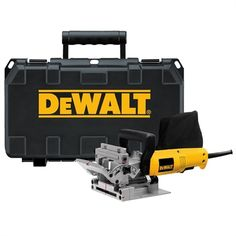 DEWALT Biscuit Joiner at Lowe's. This heavy duty plate joiner kit is powered by a amp, RPM motor that provides power for working in the hardest woods. The dual rack and pinion Essential Woodworking Tools, Antique Woodworking Tools, Woodworking Bench, Fine Woodworking, Woodworking Projects, Woodworking Quotes, Woodworking Store, Woodworking Patterns, Woodworking Machinery