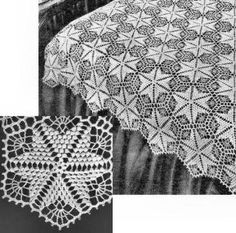 Free Heart Filet Chart for Tablecloth or Bedspread Crochet Star Patterns, Crochet Tablecloth Pattern, Crochet Bedspread Pattern, Crochet Stars, Thread Crochet, Filet Crochet, Crochet Motif, Crochet Doilies, Crochet Stitches