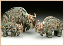 Polymer Clay Art Animal Sculpture - Buffalo John Anderson at dovetailgallery.com
