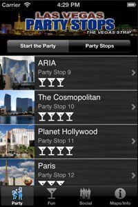 A Vegas App for PARTYING on the Las Vegas Strip!  It's called Vegas Party Stops