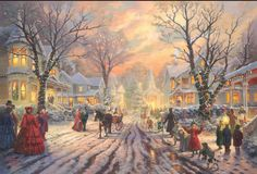 A Victorian Christmas Carol Thomas Kinkade art for sale at Toperfect gallery. Buy the A Victorian Christmas Carol Thomas Kinkade oil painting in Factory Price. Thomas Kinkade Art, Thomas Kinkade Christmas, Christmas Poster, Christmas Music, Christmas Lights, Christmas Time, Christmas Lodge, Christmas Houses, Christmas Villages