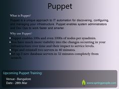 Challenge - IT automation for discovering, configuring, and managing your infrastructure. Solution - #Puppet #Technology #IT #Software