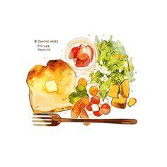 Food Aesthetic Vintage - Cute Food For Boyfriend - Food Cartoon Vintage - - Chicken Food Poster Pictures To Draw, Food Pictures, Food Pics, Food Truck, Cute Food Drawings, Watercolor Food, Watercolour Painting, Food Cartoon, Aesthetic Food