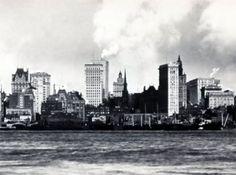 Old skyline New York, escenario de mi novela DELICIAS Y SECRETOS EN MANHATTAN. ¿Quieres ganar un ejemplar? Sorteo internacional http://oliviaardey.blogspot.com.es/2012/07/sorteo-internacional-gana-un-ejemplar.html