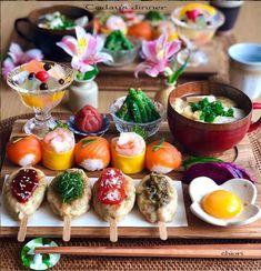 Cute Food, Good Food, Yummy Food, Sushi Recipes, Asian Recipes, Food Business Ideas, Exotic Food, Food Decoration, Creative Food