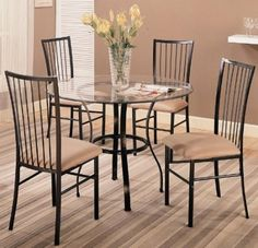 Metal Base Glass Table Dining Set - this also in my list