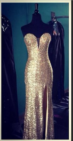 Gold prom dress (same dress that I wore to my prom)