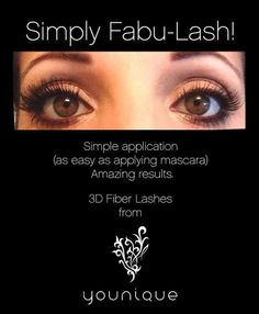 Younique's 3D Fiber Lashes are out of this world!! Get yours at www.youniqueproducts.com/PamKey