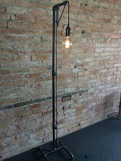 Minimalist Floor Lamp – Industrial Lighting – Pendant Edison – Steampunk Furniture - All For Decoration Industrial Light Fixtures, Porcelain Lamp, Lamp, Industrial Style Floor Lamp, Pendant Lamp, Industrial Floor Lamps, Industrial Pendant Lights, Industrial Flooring, Vintage Bulb