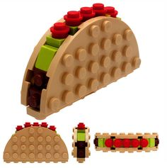 Lego taco..how freaking cute..so cool!! why didn't they have stuff like this when I was little??