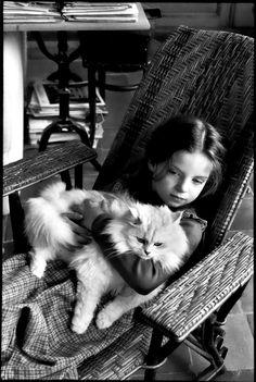 mélanie cartier-bresson at folon's, burcy, france, 1978 photo by henri cartier-bresson,