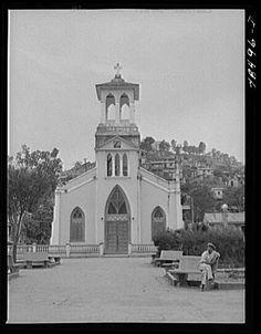 Orocovis, Puerto Rico ~ The Plaza and Church San Juan Bautista