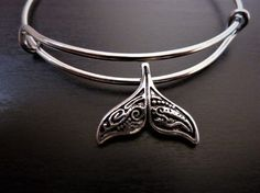 Wish Knots Maori Whale Tail Charm Bangle. by WishKnotsJewellery