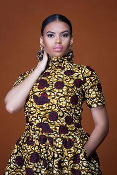 African Print Uganda Midi Dress