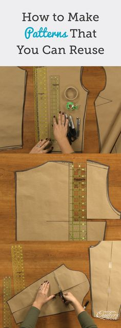 When showing how to make patterns out of Do-Sew, ZJ shares several tips. While many people often place what is being traced on top of a material, ZJ shows how placing the pattern piece under the polyester can actually work better. She also shares tips for how to keep everything lined up by using either pattern weights or pins.