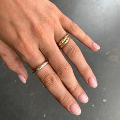 Liz made this beautiful ring from round sterling silver wire. There's such a huge selection of silver to choose from, so it's always a nice surprise to see what each person chooses to make.