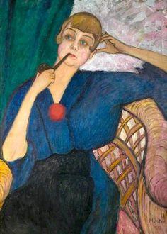 bofransson: Anna Roslund (1891–1941) by Gabriele Münter