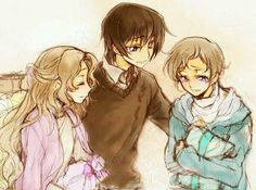Nunnally, Lelouch and Rolo :'(