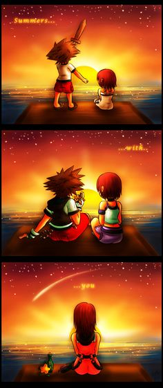 aaaw, that's bitter sweet.  :') Kairi better get him in the end!