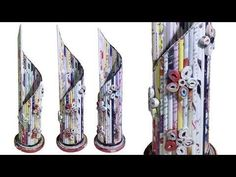 DIY Newspaper Cycle Pen Stand - YouTube