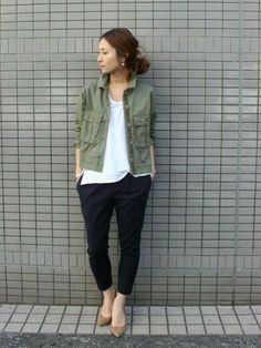 haru(Spick & Span 本社)|FRAMeWORKのミリタリージャケットを使ったコーディネート - WEAR: