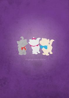 Aristocats inspired design. by TopShelfPosters on Etsy, £9.98