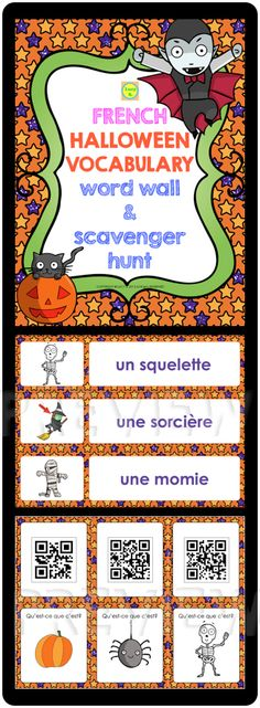 $ Fun activity to introduce and practice Halloween vocabulary. Your students will love this treat!