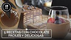 5 RECETAS CON CHOCOLATE fáciles y deliciosas Finger Foods, Quinoa, Pudding, Chocolate Blanco, Madrid, Desserts, Entertaining, Friends, Videos