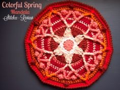 Colorful Spring Mandala - Free Crochet Pattern Review - Stitch11