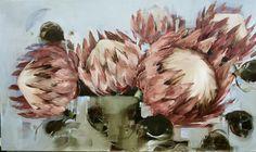 Proteas 91x152 Nicole Pletts Protea Art, King Protea, King Art, Flower Art, Art Flowers, Beautiful Paintings, Art World, Creative Inspiration, Watercolor