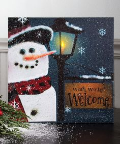 Look what I found on #zulily! Snobusiness Lighted Canvas by Ohio Wholesale, Inc. #zulilyfinds