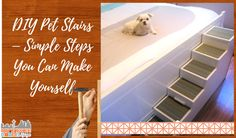 DIY Pet Stairs - Simple Steps You Can Make Yourself - using scrap lumber, a few tools, and carpet remnants you can make your own dog ramp Easter Crochet Patterns, Baby Patterns, Crochet Fish, Easy Crochet, Frozen Halloween Costumes, Tunisian Crochet Free, Frozen Crochet, Pet Stairs, Dog Ramp