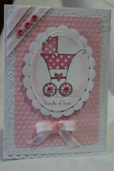 WT139 Oval baby card by Holstein - Cards and Paper Crafts at Splitcoaststampers