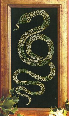 snake cross stitch