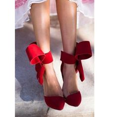 Charming Removable Big Bow High Heel Heels Shoes - Meet Yours Fashion - 2