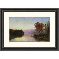 Global Gallery 'Greenwood Lake at Twilight' by Jasper Francis Cropsey Framed Painting Print Size: