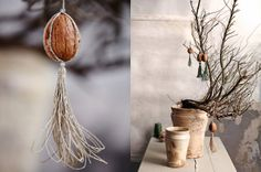 Christmas decorating ideas - walnut shell ornament - by Dietlind Wolf for Sweet Paul Magazine 2012