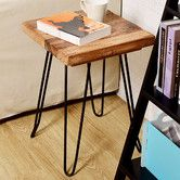 Found it at Wayfair - Square Old Elm Wood End Table