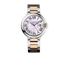 BALLON BLEU DE CARTIER WATCH, 36 MM Automatic, Steel, Pink gold