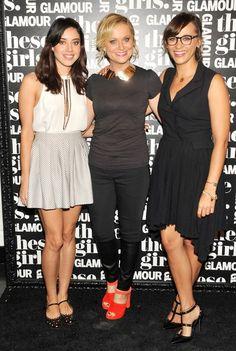 Aubrey Plaza (April Ludgate) & Amy Poehler (Leslie Knope) & Rashida Jones (Ann Perkins) from Parks & Recreation