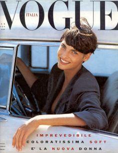 Linda Evangelista 1989 Italian Vogue